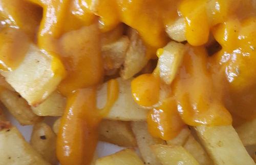 Kürbisketchup auf Kartoffeln